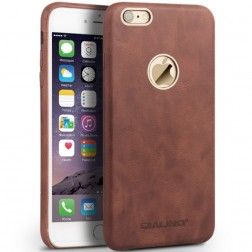 """QIALINO"" Slim Leather ādas apvalks - gaiši brūns (iPhone 6 / 6s)"