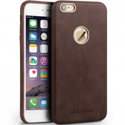 """QIALINO"" Slim Leather ādas apvalks - tumši brūns (iPhone 6 / 6s)"