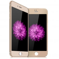 """""""Devia"""" 9H Tempered Glass ekrāna aizsargstikls 0.33 mm - zelta + aizsargplēve aizmugurējām vāciņam (iPhone 6 Plus / 6s Plus)"""