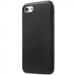 Soft Slim ādas apvalks - melns (iPhone 7 / 8)