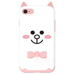 """Kingxbar"" Cat cieta silikona (TPU) apvalks - balts (iPhone 7 / 8 / SE 2020)"