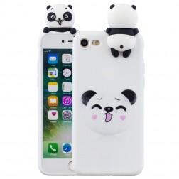 """Squezy"" Panda cieta silikona (TPU) apvalks - balts (iPhone 7 / 8 / SE 2020)"
