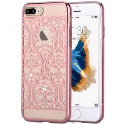 """Devia"" Baroque Swarovski apvalks - rozs (iPhone 7 Plus / 8 Plus)"