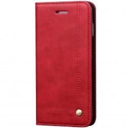 """""""Deluxe"""" atvēramais maciņš - sarkans (iPhone 7 Plus / 8 Plus)"""