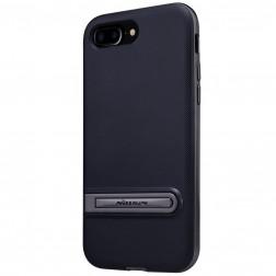 """Nillkin"" Youth Kickstand apvalks - melns apmales melnā krāsā (iPhone 7 Plus / 8 Plus)"