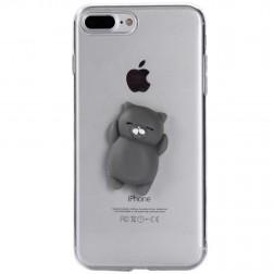"""Squezy"" Grey Cat cieta silikona (TPU) apvalks - dzidrs (iPhone 7 Plus / 8 Plus)"