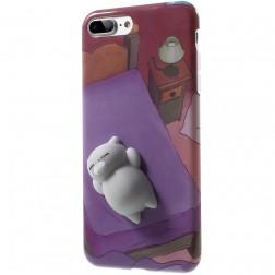 """""""Squezy"""" Cat cieta silikona (TPU) apvalks - violeta (iPhone 7 Plus / 8 Plus)"""