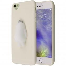 """Squezy"" Polar Bear cieta silikona (TPU) apvalks - balts (iPhone 6 Plus)"