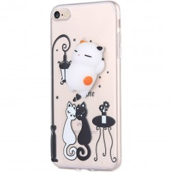 """Squezy"" Cat cieta silikona (TPU) apvalks - dzidrs (iPhone 7 / 8)"