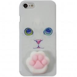 """Squezy"" Pėdutė cieta silikona (TPU) apvalks - balts (iPhone 7 / 8)"