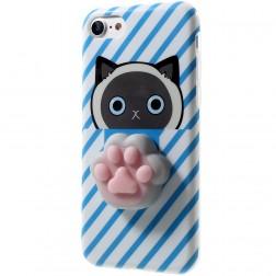 """Squezy"" Pėdutė cieta silikona (TPU) apvalks - zils (iPhone 7 / 8)"