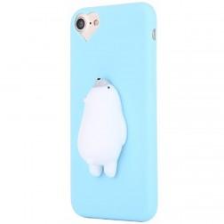 """Squezy"" Polar Bear cieta silikona (TPU) apvalks - gaiši zils (iPhone 7 / 8)"