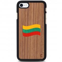 """""""Crafted Cover"""" dabīga koka apvalks - Lietuvas karogs (iPhone 7 / 8)"""