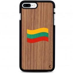 """""""Crafted Cover"""" dabīga koka apvalks - Lietuvas karogs (iPhone 7 Plus / 8 Plus)"""