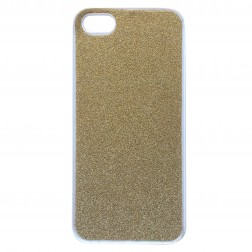 """Glitter"" plastmasas apvalks - zelta (iPhone 5 / 5S / SE)"