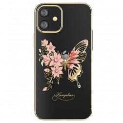 """Kingxbar"" Wings Swarovski apvalks - zelta (iPhone 12 Mini)"