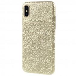 """Disco"" plastmasas apvalks - zelta (iPhone X / Xs)"