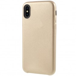 Soft Slim ādas apvalks - zelta (iPhone X / Xs)