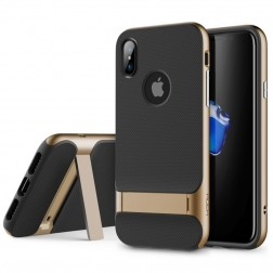 """Rock"" Royce Kickstand apvalks - zelta (iPhone X / Xs)"