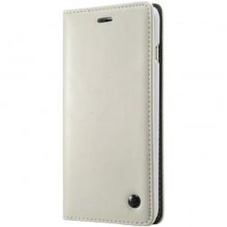 """""""CaseMe"""" solīds atvēramais ādas maciņš - balts (iPhone X / Xs)"""