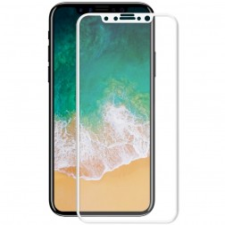 """Hat-Prince"" Tempered Glass ekrāna aizsargstikls 0.26 mm - balts (iPhone X / Xs / 11 Pro)"