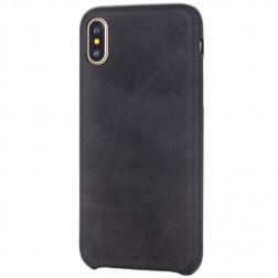 Slim Leather ādas apvalks - melns (iPhone X / Xs)