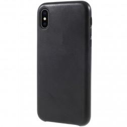 Soft Slim ādas apvalks - melns (iPhone X / Xs)