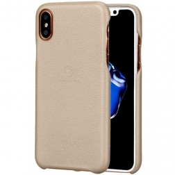 """Lenuo"" Soft Slim ādas apvalks - zelta (iPhone X / Xs)"