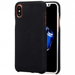 """Lenuo"" Soft Slim ādas apvalks - melns (iPhone X / Xs)"