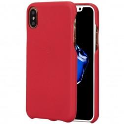 """Lenuo"" Soft Slim ādas apvalks - sarkans (iPhone X / Xs)"