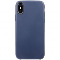 Cieta silikona (TPU) apvalks - tumši zils (iPhone X / Xs)