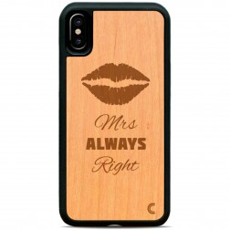 """Crafted Cover"" dabīga koka apvalks - Mrs Always Right (iPhone X / Xs)"