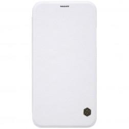"""Nillkin"" Qin atvēramais maciņš - balts (iPhone X / Xs)"