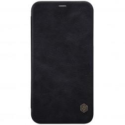"""Nillkin"" Qin atvēramais maciņš - melns (iPhone X / Xs)"
