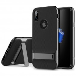 """Rock"" Royce Kickstand apvalks - melns (iPhone X / Xs)"
