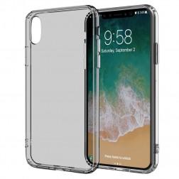 Cieta silikona (TPU) dzidrs apvalks - pelēks (iPhone X / Xs)