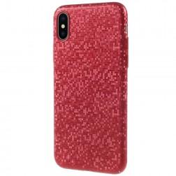 """Disco"" plastmasas apvalks - sarkans (iPhone X / Xs)"