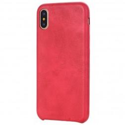 Slim Leather ādas apvalks - sarkans (iPhone X / Xs)