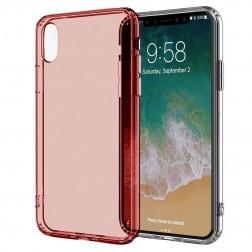 Cieta silikona (TPU) dzidrs apvalks - sarkans (iPhone X / Xs)