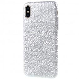 """Disco"" plastmasas apvalks - sudrabs (iPhone X / Xs)"