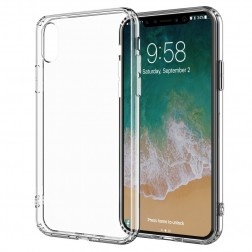 Cieta silikona (TPU) apvalks - dzidrs (iPhone X / Xs)