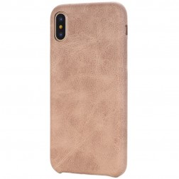 Slim Leather ādas apvalks - smilšains (iPhone X / Xs)