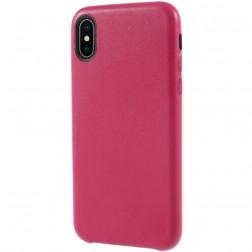 Soft Slim ādas apvalks - tumši rozs (iPhone X / Xs)