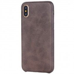 Slim Leather ādas apvalks - tumši brūns (iPhone X / Xs)