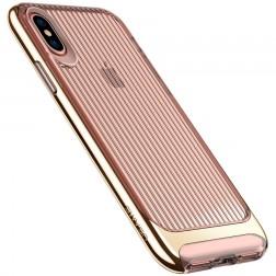 """Usams"" Senior dzidrs apvalks - zelta (iPhone X / Xs)"