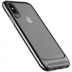 """Usams"" Senior dzidrs apvalks - melns (iPhone X / Xs)"