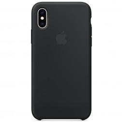 "Oficiāls ""Apple"" Silicone Case apvalks - melns (iPhone X / Xs)"