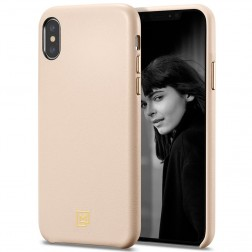 """Spigen"" La Manon Calin ādas apvalks - smilšains (iPhone X / Xs)"