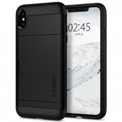 """Spigen"" Slim Armor CS apvalks - melns (iPhone X / Xs)"