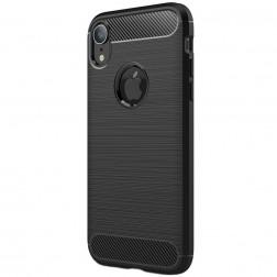 """Carbon"" cieta silikona (TPU) apvalks - melns (iPhone Xr)"